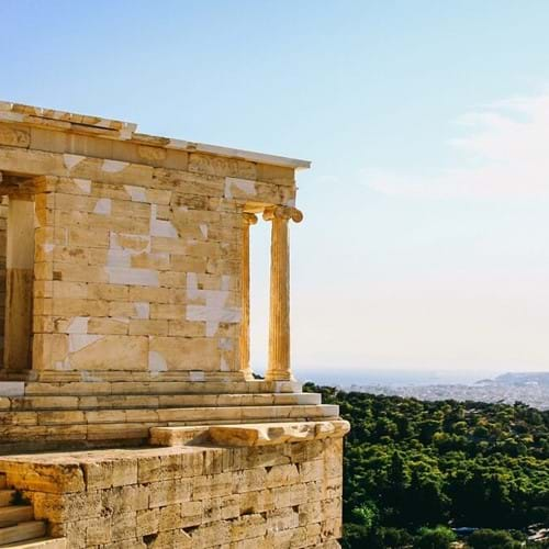 The Temple of Athena, Athens