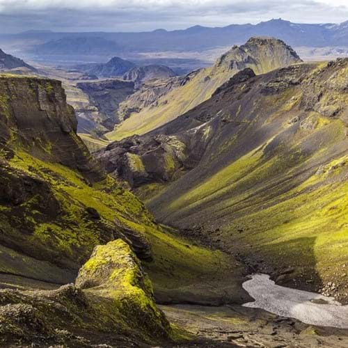 Thorsmork Valley and the Ash Cloud Volcano, Iceland